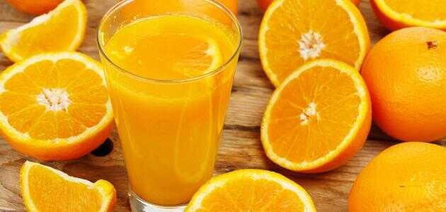السعرات الحرارية في عصير البرتقال